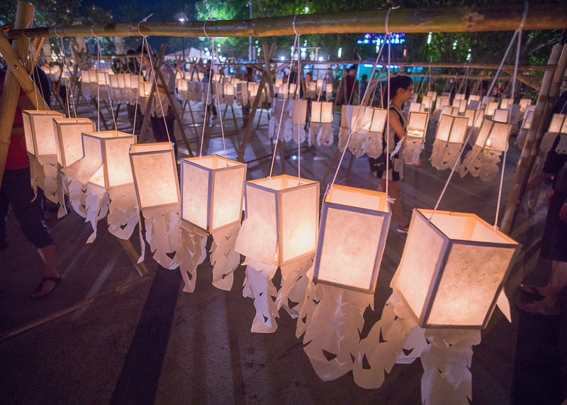 Loy Krathong Chiang Mai lantern festival - lanterns