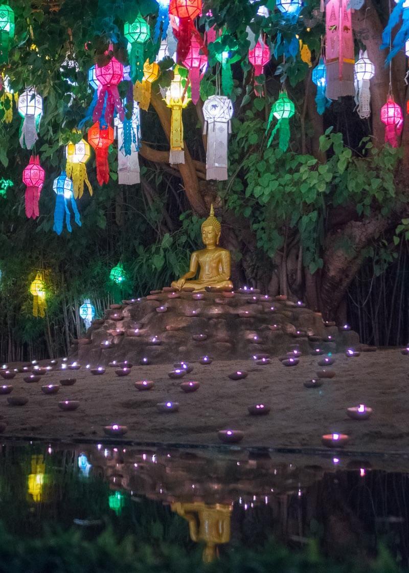 Loy Krathong Chiang Mai lantern festival - buddha