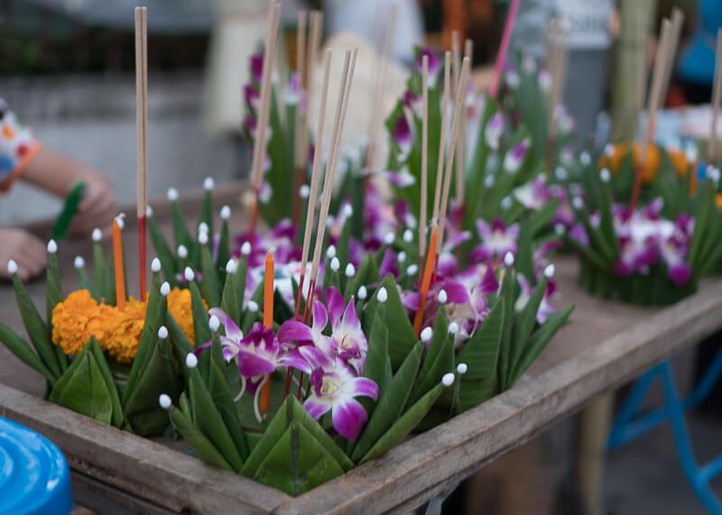 Loy Krathong Chiang Mai lantern festival - krathongs