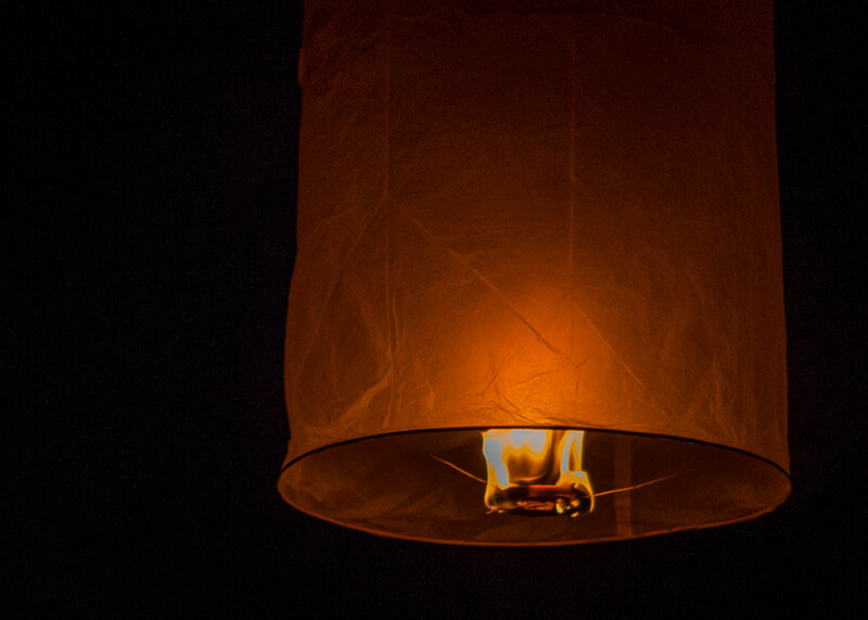 Loy Krathong Chiang Mai lantern festival - sky lantern