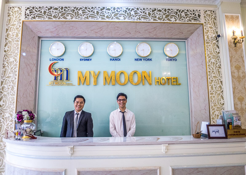 My Moon hotel Hanoi - hotel concierge and staff