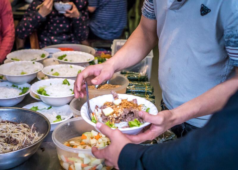 best food hanoi vietnam - bun bo nam bo