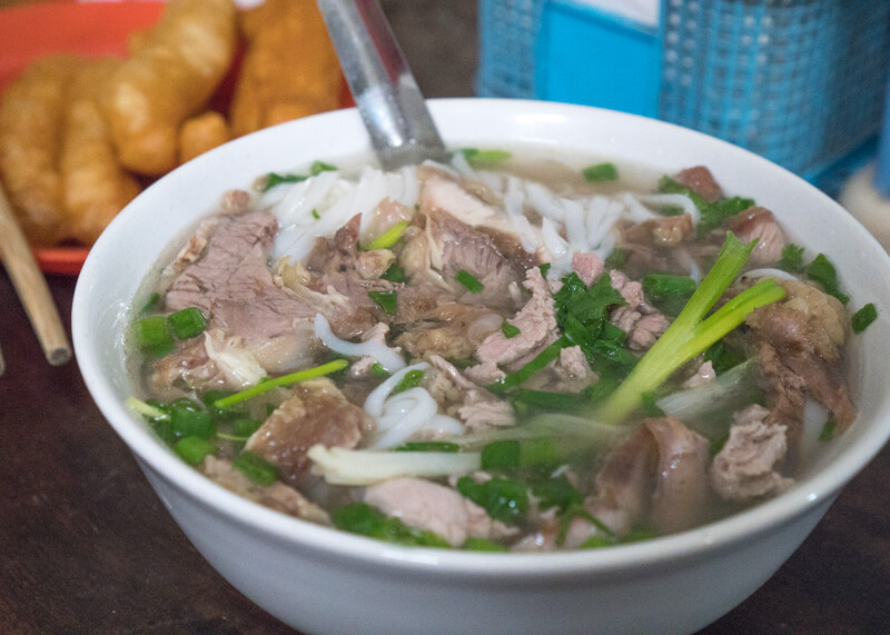 Best Food Hanoi Vietnam - popular phở dish