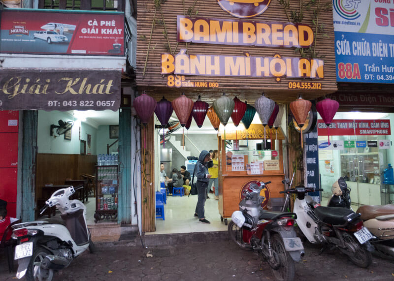 Best Food Hanoi Vietnam - Bánh Mì Hội An