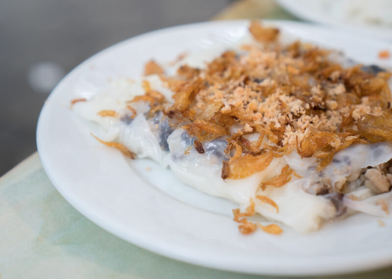 Best Food Hanoi Vietnam - bánh cuốn dish