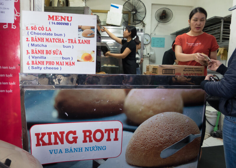 Best Food Hanoi Vietnam - Roti King stall