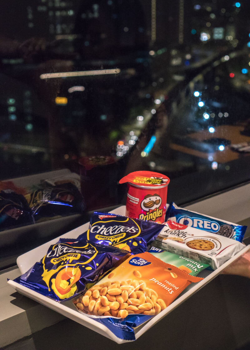 Hotel Aloft KL Sentral - room snacks
