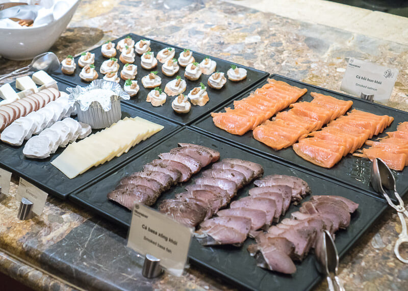 Sheraton hanoi hotel vietnam - Cold cuts and salmon
