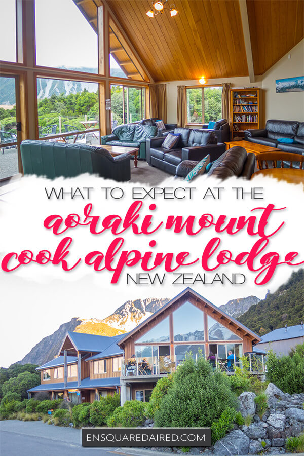 aoraki mount cook alpine lodge - pin