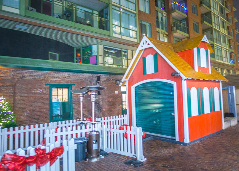 Toronto distillery district Christmas market - colourful house