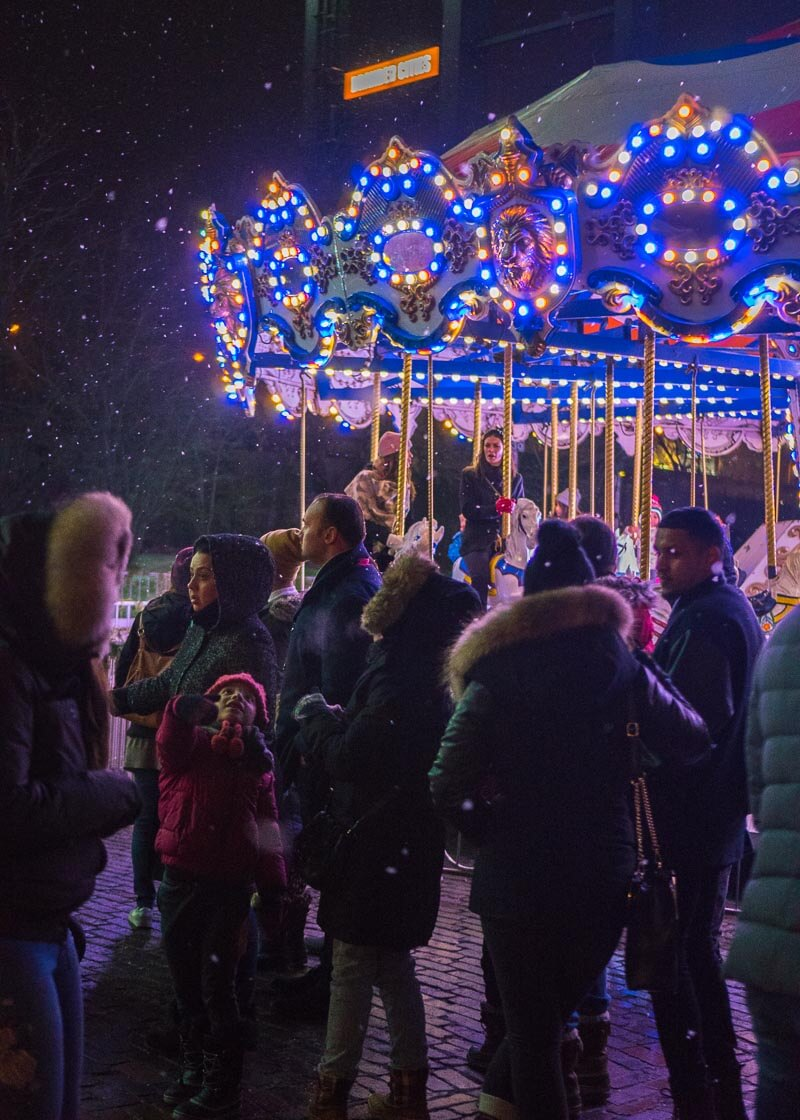 Toronto distillery district Christmas market - Merry Go Round