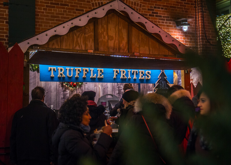 Toronto distillery district Christmas market - truffle frites