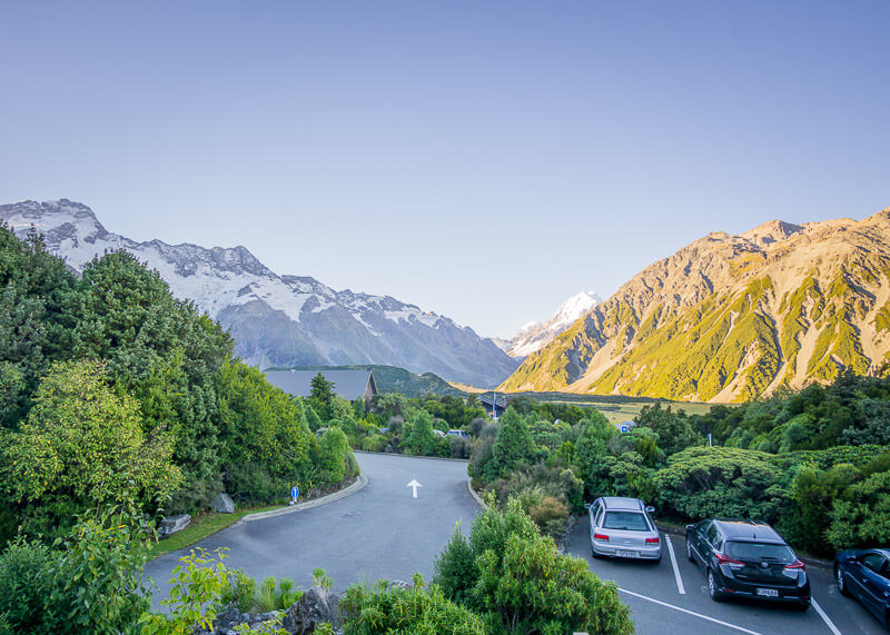aoraki mount cook alpine lodge - mountain view