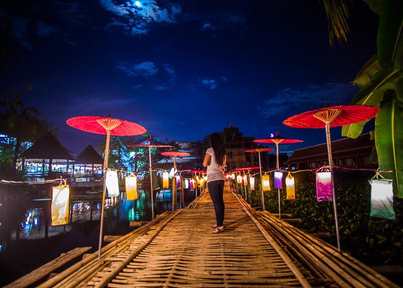 new year chiang mai - bridge