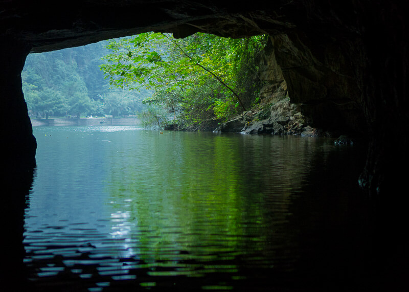 Trang An Grottoes tour - exiting caves