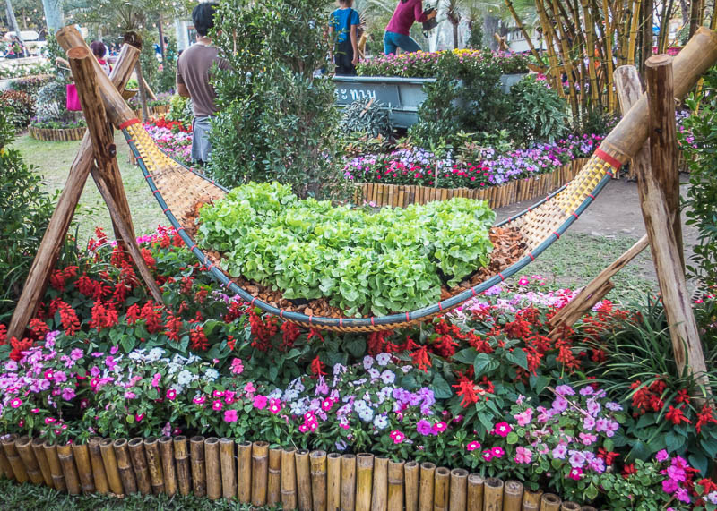 chiang mai flower festival - decorations