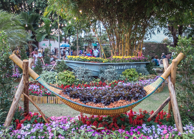 chiang mai flower festival - flower decorations