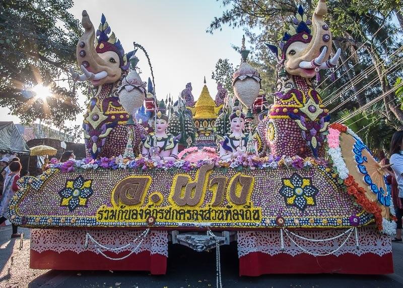 chiang mai flower festival - elephant