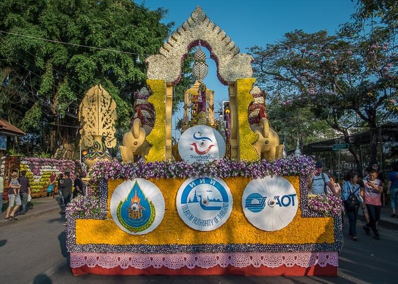 chiang mai flower festival - flower floats