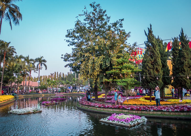 chiang mai flower festival - river