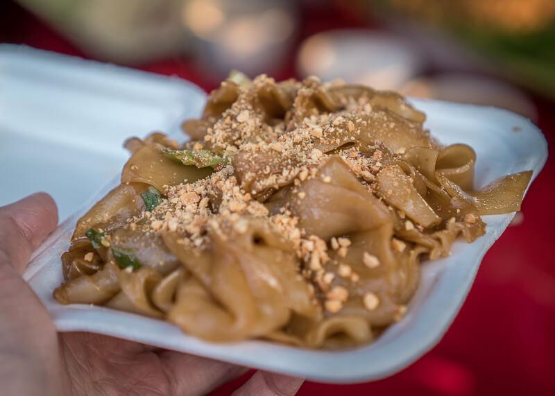 chiang mai flower festival - flat noodles