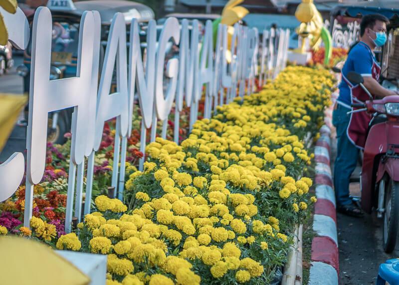 chiang mai flower festival - chiang mai sign