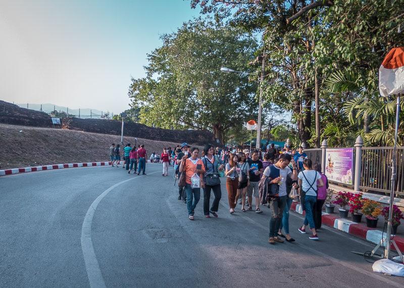 chiang mai flower festival - road