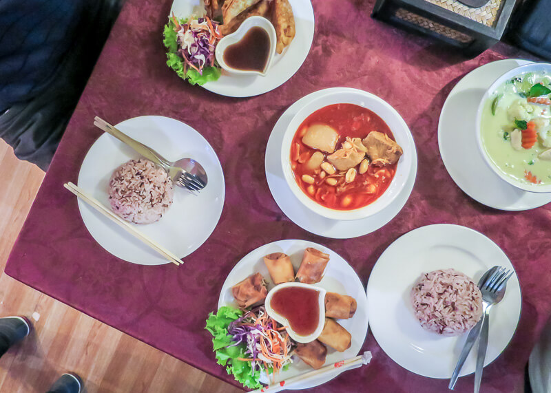 Why Cooking Love Chiang Mai Is So Popular | flatlay thai food
