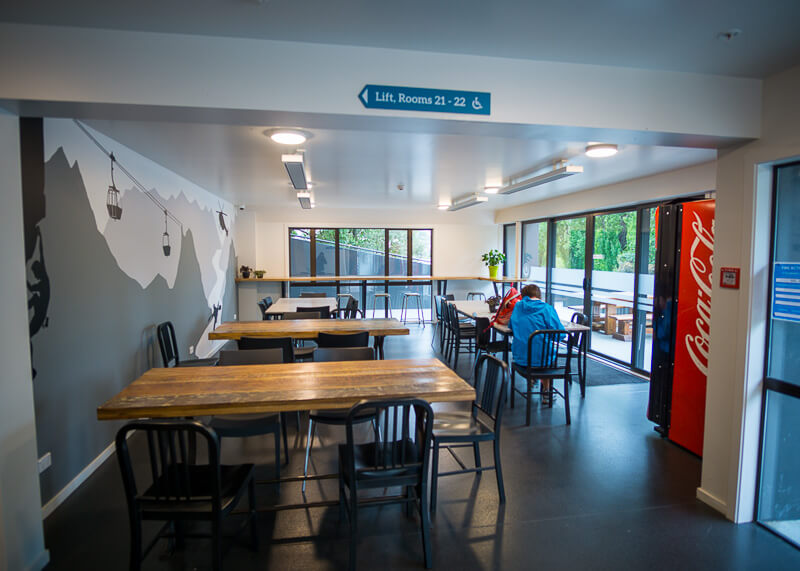 YHA Queenstown Lakefront NZ - dining tables