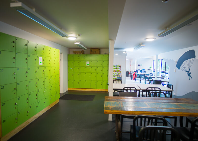 YHA Queenstown Lakefront NZ - lockers