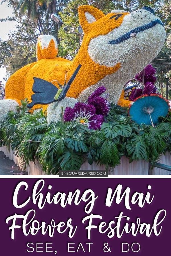 chiang mai flower festival pinterest