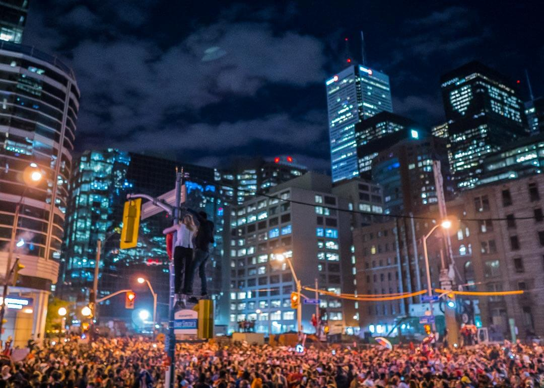 Raptors championship celebration parade - Toronto intersection