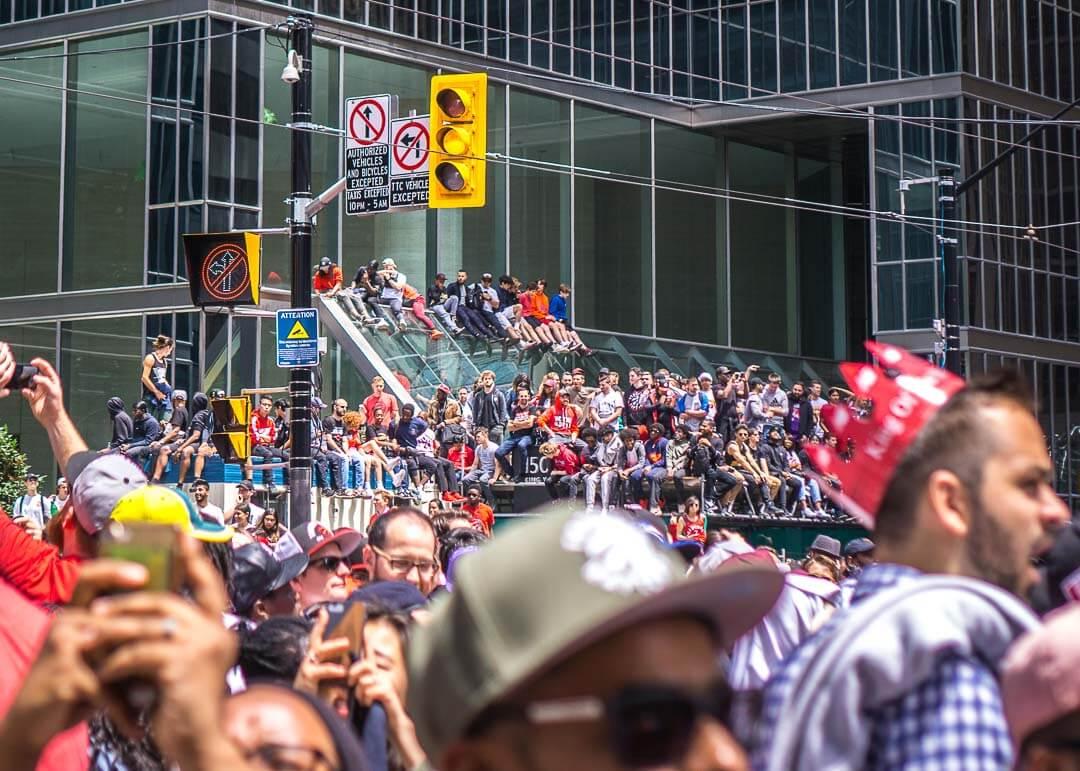 Raptors championship celebration parade - crowds