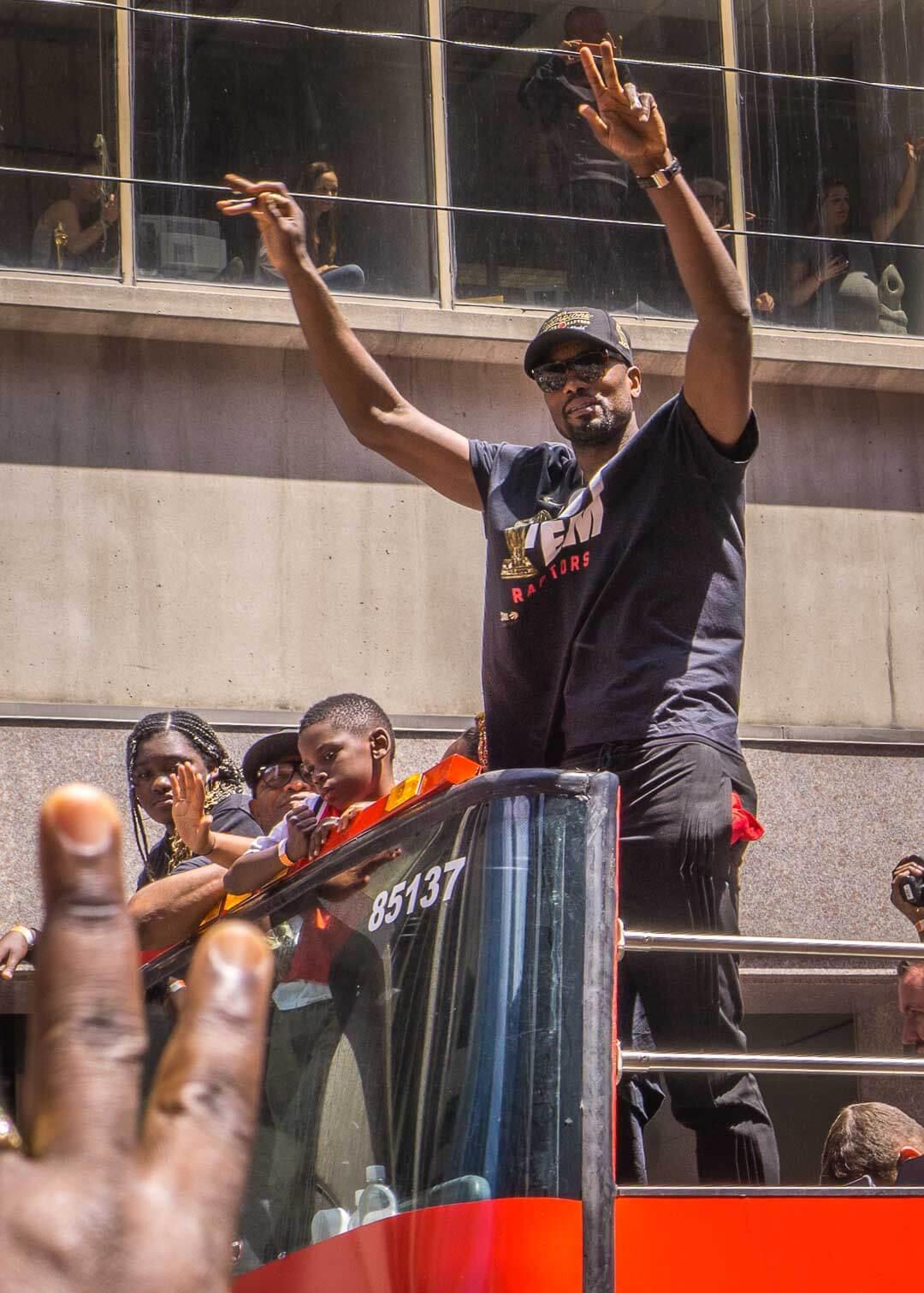Raptors championship celebration parade - Serge Ibaka