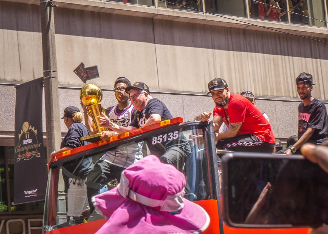 Raptors championship celebration parade - Fred VanVleet and Kyle Lowry