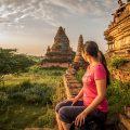 Bagan travel blog - climbing temple