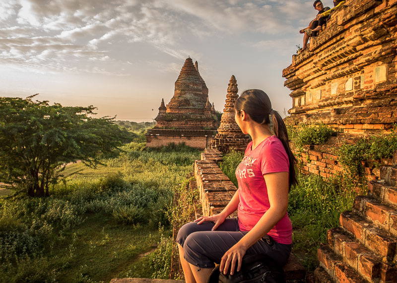 Bagan travel blog - climbing temple