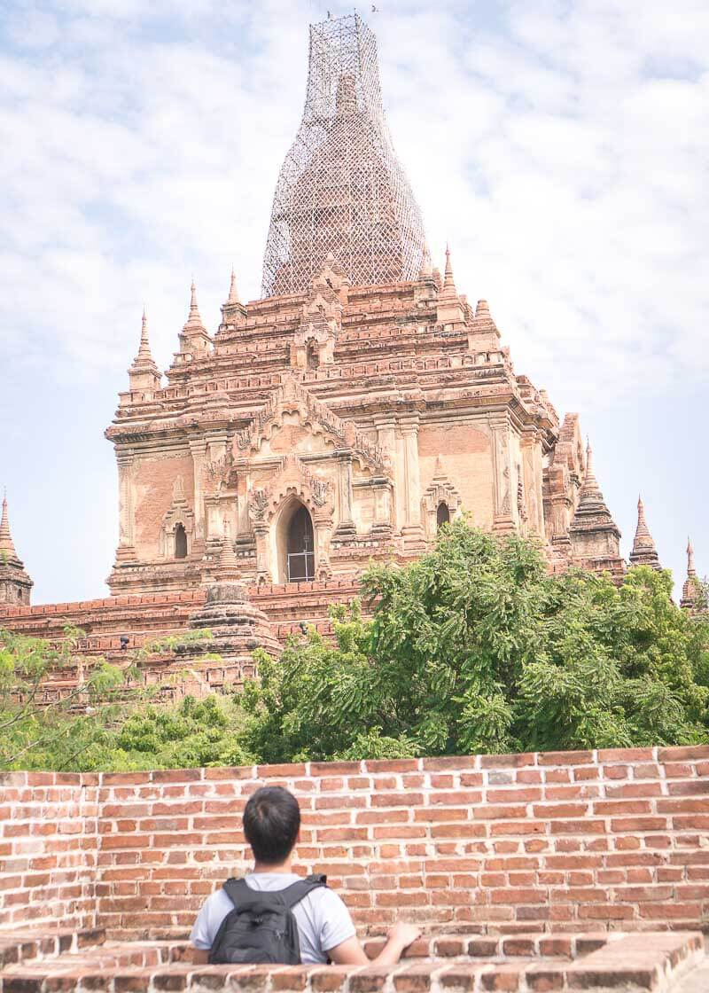Bagan travel blog - Shwe Leik Too secret view