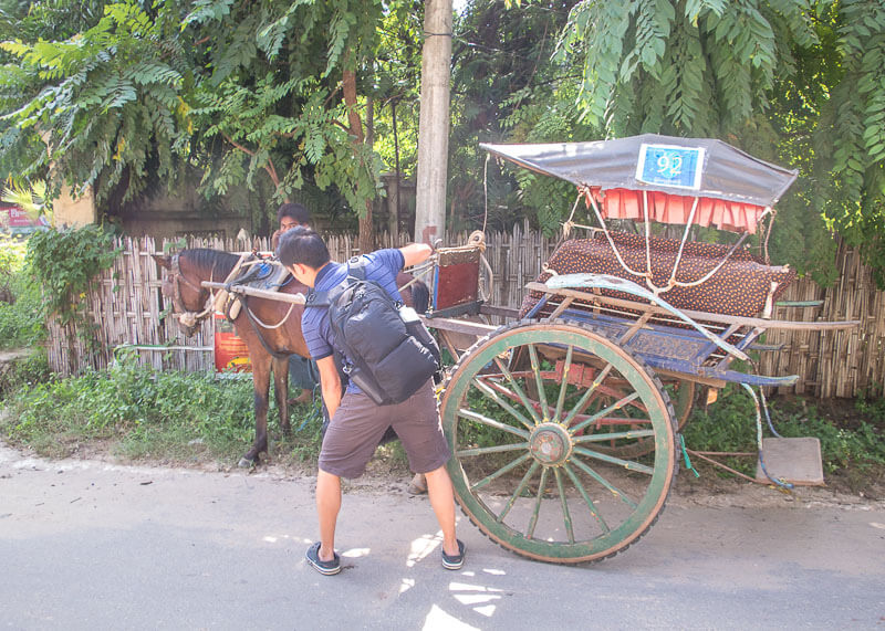 Bagan travel blog - horse carriage
