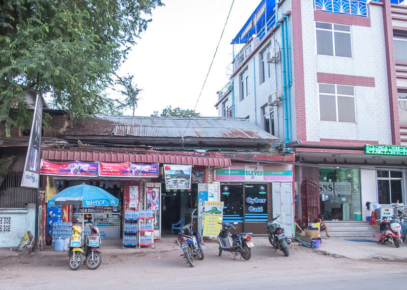 Bagan travel blog - convenience store