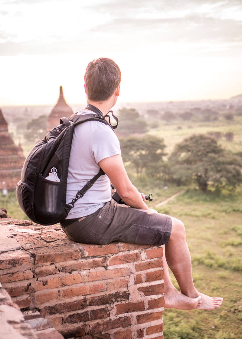 Bagan travel blog - viewing sunrise in bagan