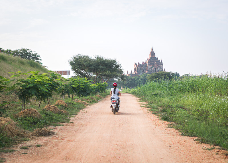 Bagan travel blog - temple hopping on ebikes