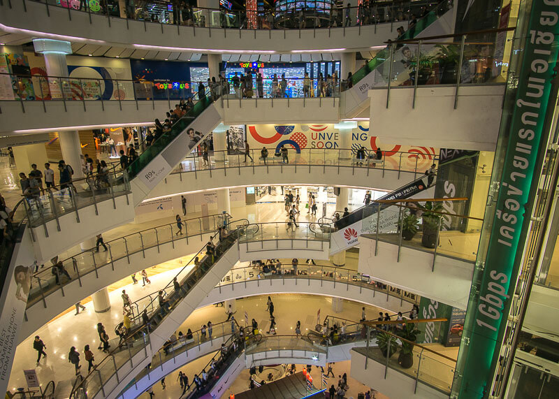 bangkok travel blog - shopping mall