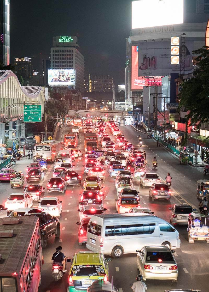 bangkok travel blog - hectic traffic