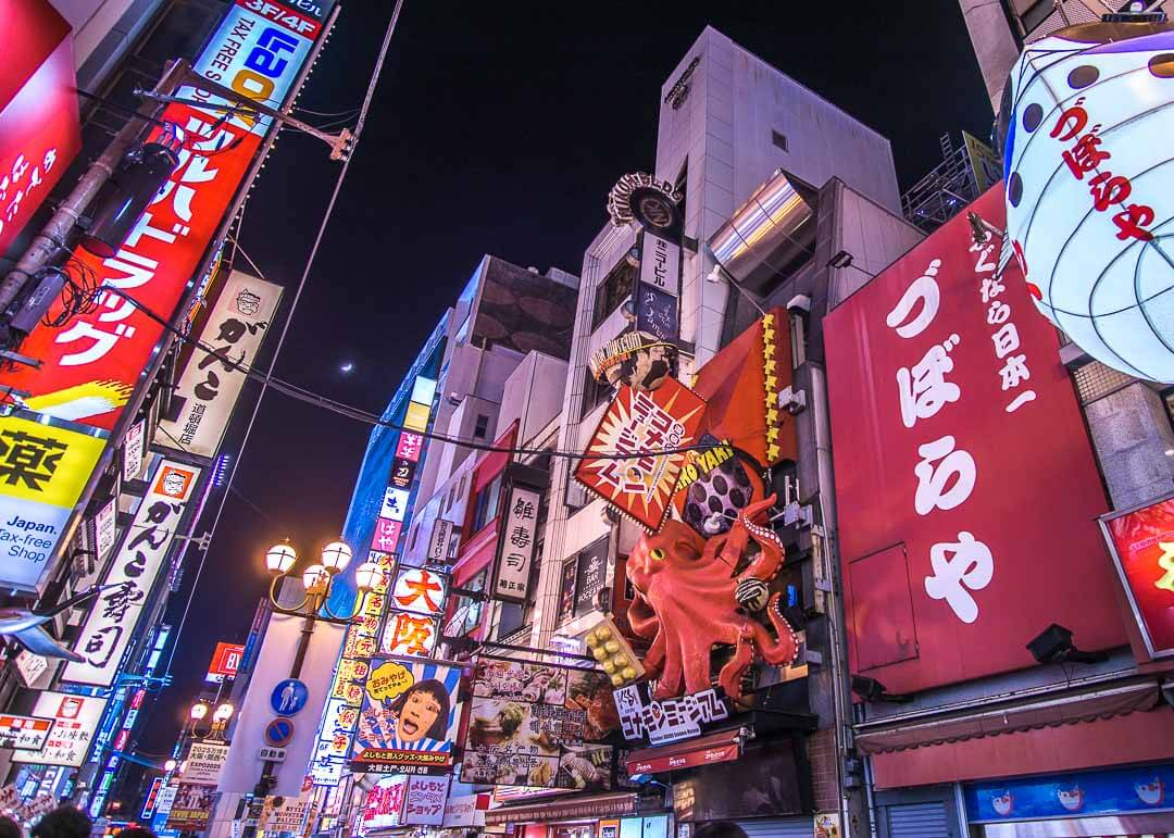 What To Do In Dotonbori - neon lights