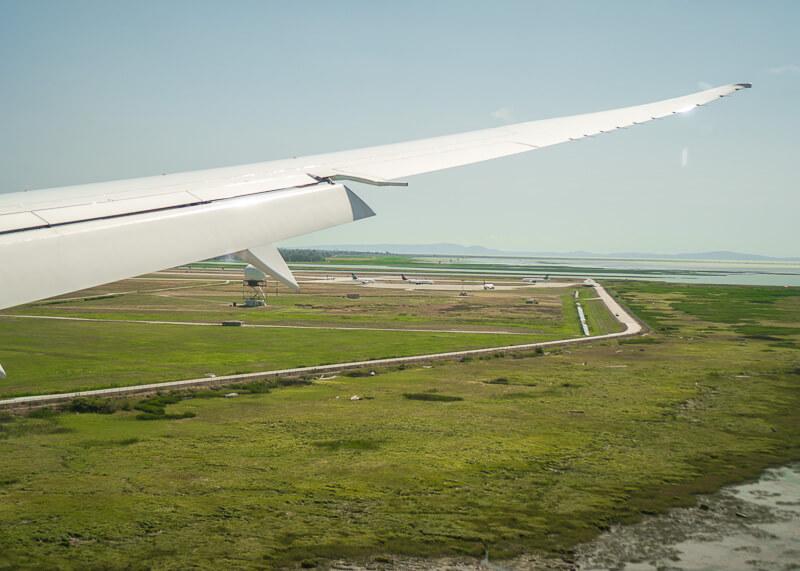 modern nomadic lifestyle - plane landing in canada