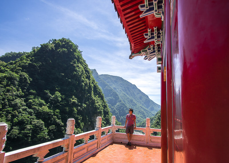 modern nomadic lifestyle - taroko gorge bell tower in hualien