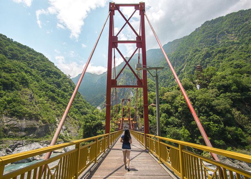modern nomadic lifestyle - taroko gorge pudu bridge in hualien
