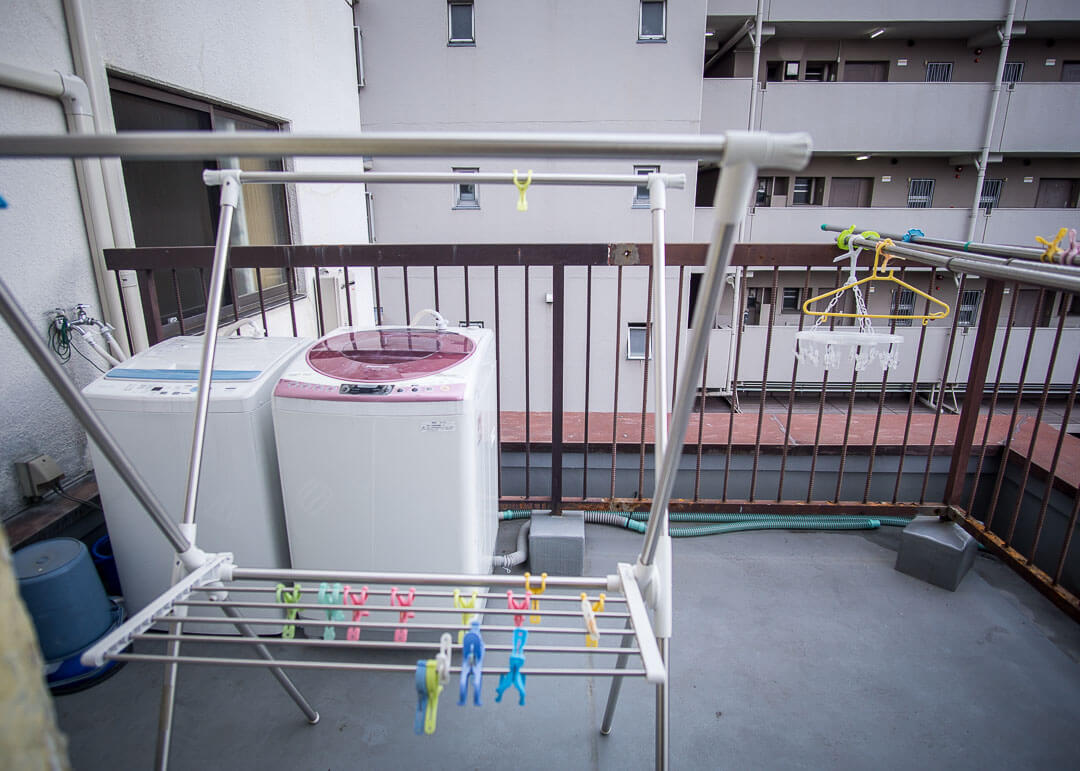 stay inn koto - rooftop washing machine