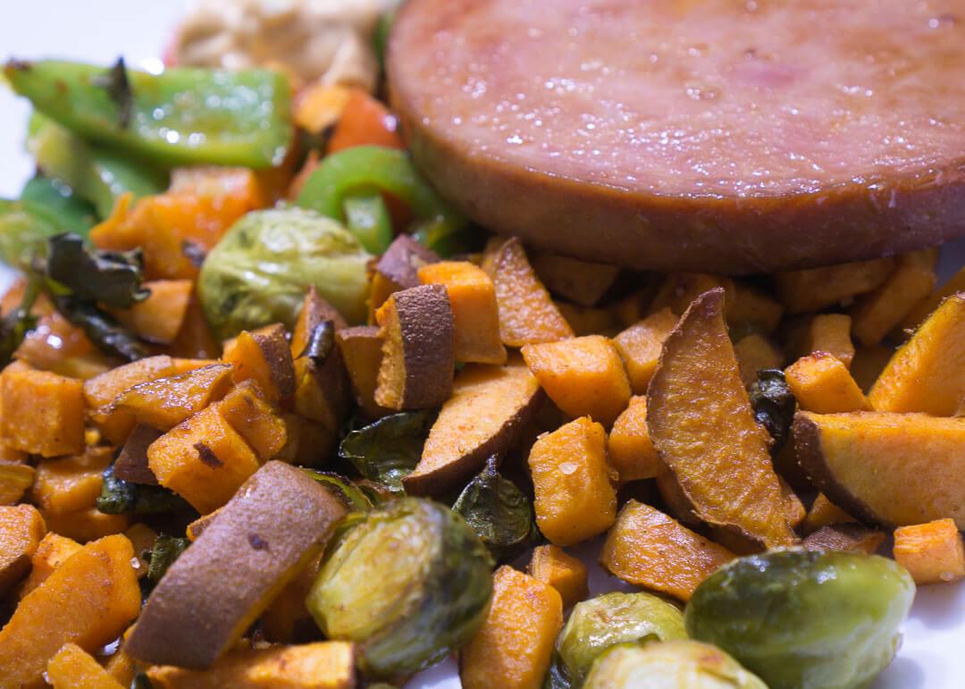 Hellofresh Canada Review - maple-glazed ham steak meal